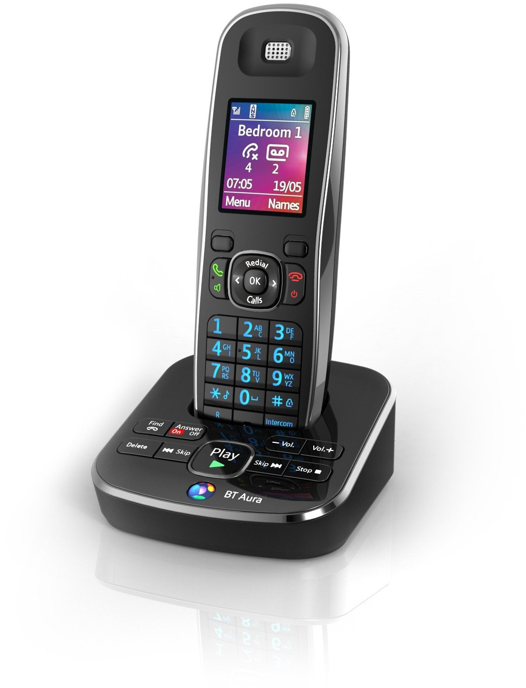 BT Aura 1500 Single Digital Cordless Phone with: Amazon.co.uk: Electronics