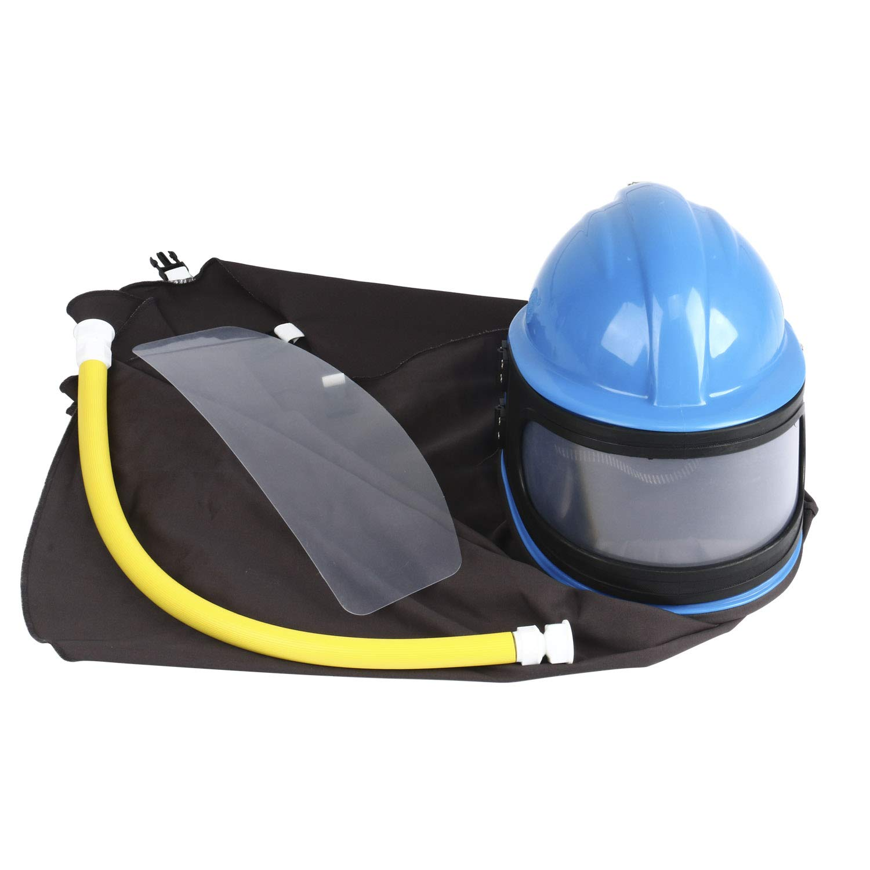 AIR Supplied Safety Sandblast Helmet Sandblasting Hood Protector (BLUE) by YaeKoo