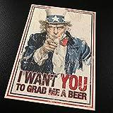 funny beer cooler - Uncle Sam Grab Me A Beer - Sticker