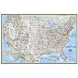 United States Classic Poster Size Map: Wall Maps U.s. (National Geographic Reference Map)