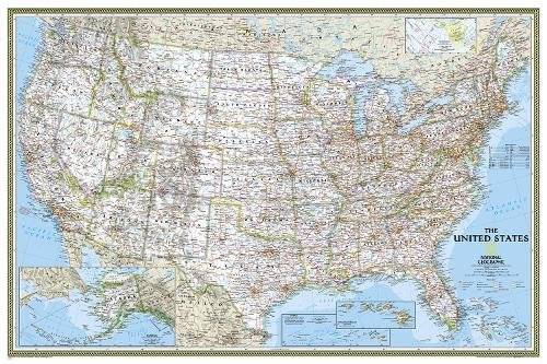 National Geographic: United States Classic Wall Map - Laminated (36 x 24 inches) (National Geographic Reference Map)