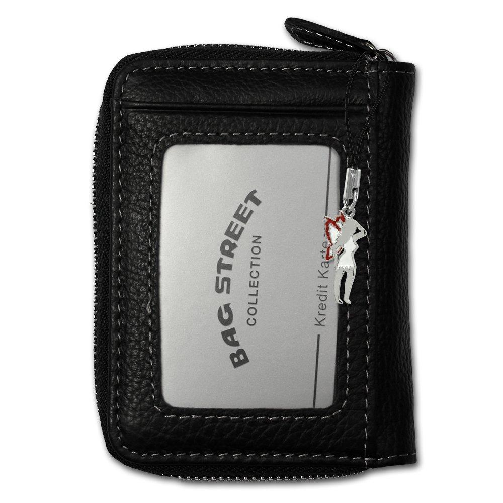 203b068b71f1b Bag Street kleine Leder Geldbörse unisex (Schwarz)  Amazon.de  Koffer