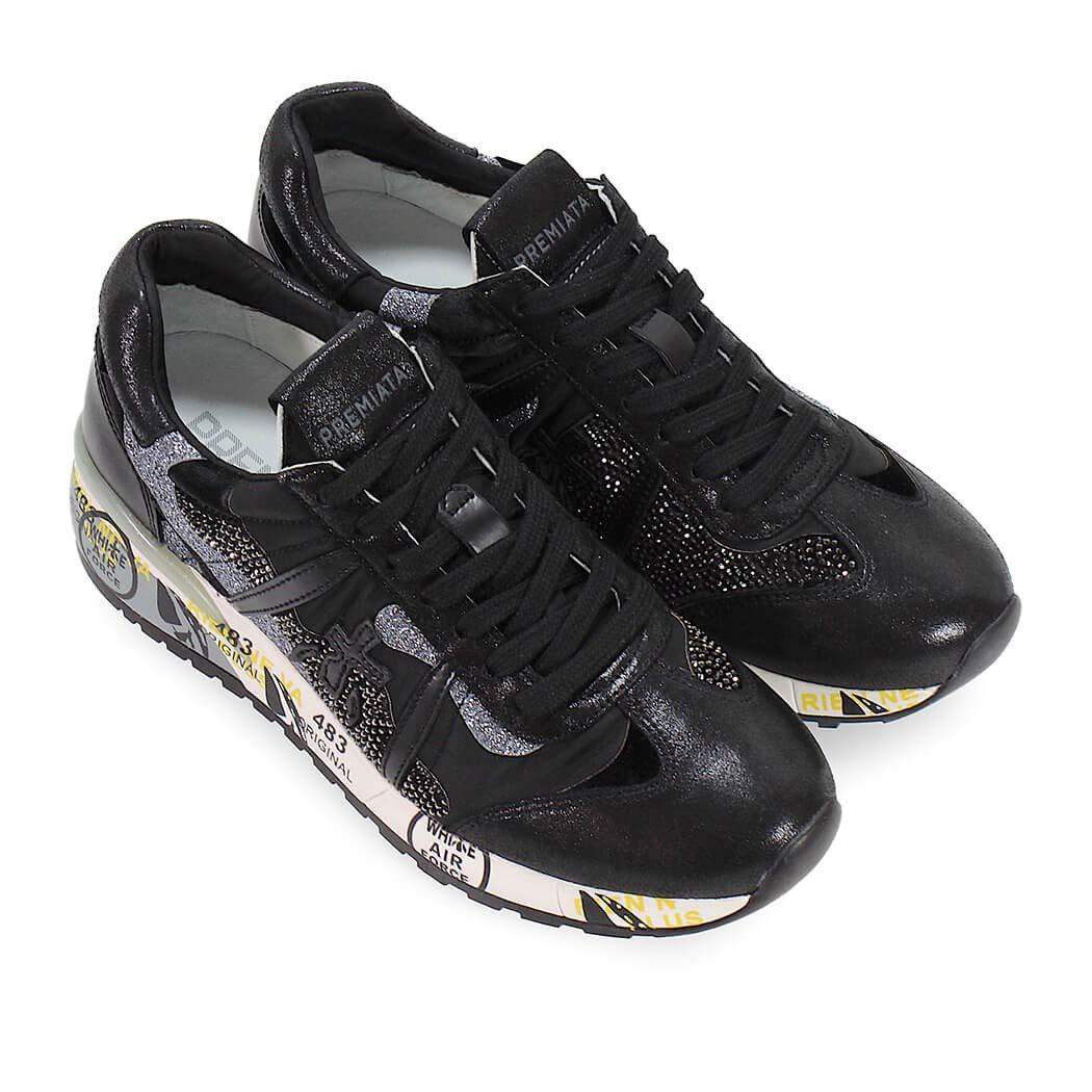 Premiata Chaussures Baskets 3310 Roxane Argenté Noir Automne Femme rrnqd68