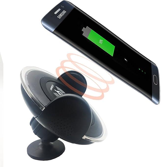 Qi inalámbrico cargador de coche para pantalla plana aosang Base de carga Universal teléfono soporte de salpicadero de coche para Samsung Galaxy ...