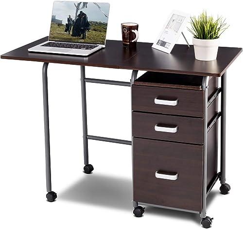 Tangkula Foldable Computer Desk