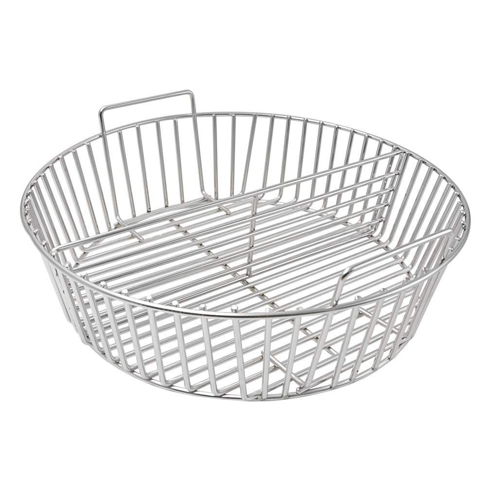 onlyfire Barbecue Stainless Steel Charcoal Ash Basket Fits for XLarge Big Green Egg Ceramic Grill by onlyfire