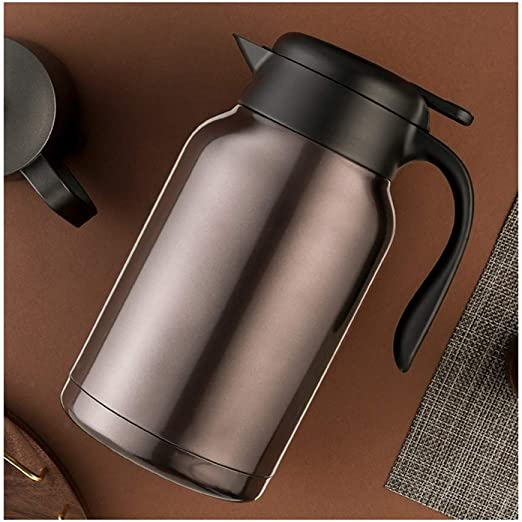 Double Wall Stainless Steel 2L Vacuum Thermal Jug Coffee Carafe Bottle Red