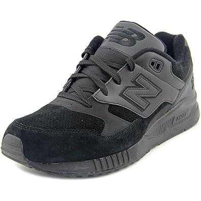 d78d6d5be56f New Balance Men s M530 Black Leather Sneaker 8 D ...