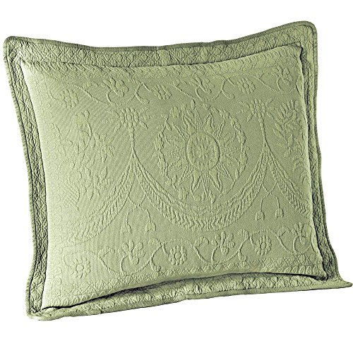Historic Charleston 13990020X036SAG King Charles Matelasse 20-Inch by 36-Inch King Sham, Sage