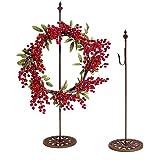 Darice Rusted Free Standing Metal Wreath Hanger, 30 Inch