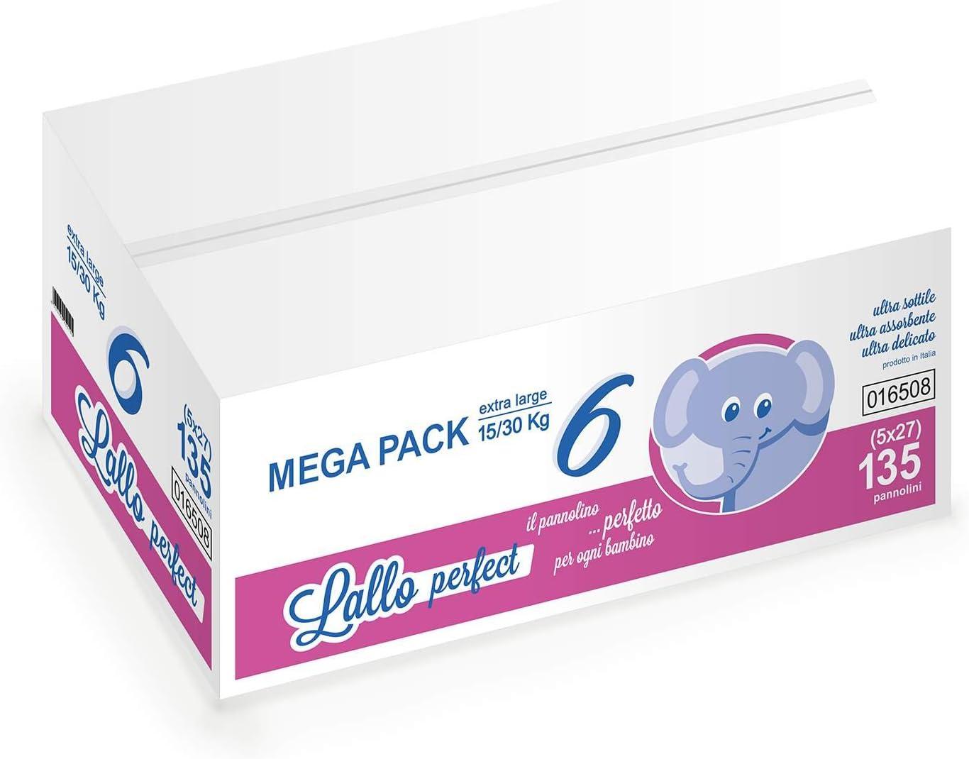 Megapack Pannolini Lallo Perfect 6 Xl 15//30 kg 135 pz