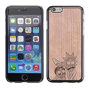 Funda Cubierta Madera de cereza Duro PC Teléfono Estuche / Hard Case for Apple Iphone 6 Plus 5.5 / Phone Case TECELL Store / Tv Show Morty Divertidos Personajes Tv Show Morty Funny Characters
