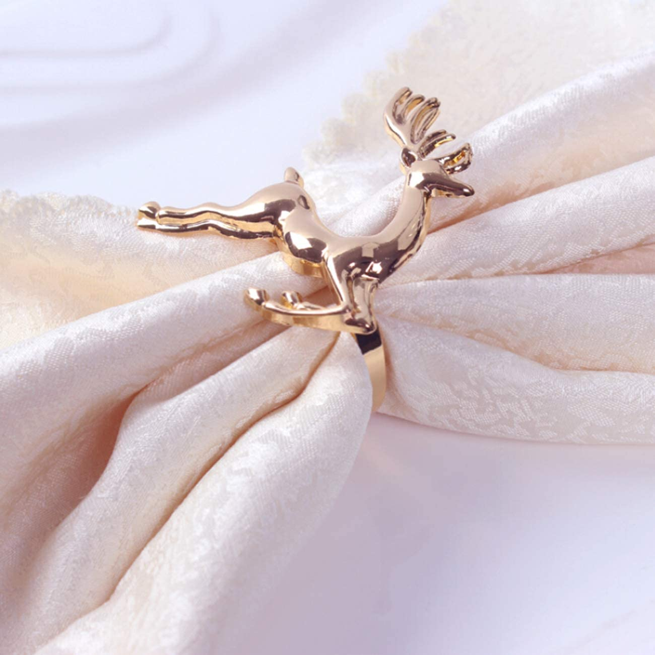 Candy ZeeDix Napkin Rings for Christmas Dinning Table Setting-Wedding Receptions Thanksgiving and Home Kitchen for Casual or Formal Christmas