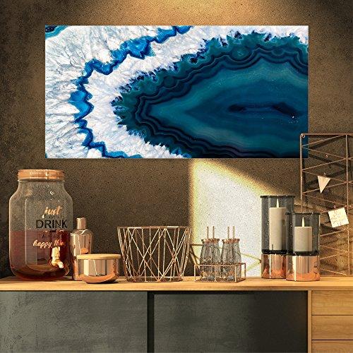 (Designart PT14377-32-16 Blue Brazilian Geode - Abstract Canvas Wall Art Print,)