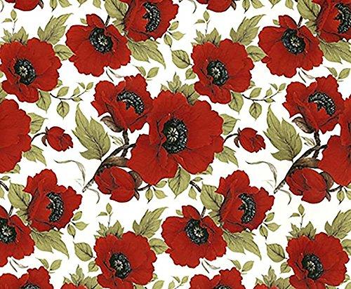 Chintz Flowers (CZ6832 Vibrant Poppy Flower Chintz Ceramic Decal Sheet 18 1/4