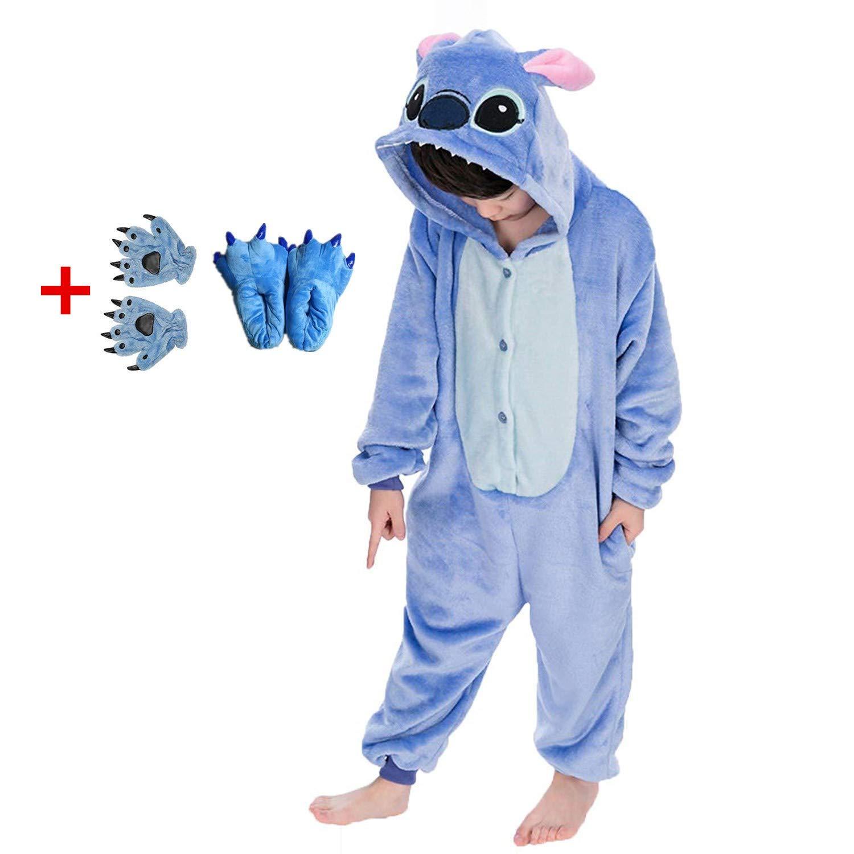3da18aa388af Amazon.com  SENSERISE Adult Child Unisex Stitch Onesie Unicorn Pajamas  Animal Cosplay Costume Sleepwear  Clothing