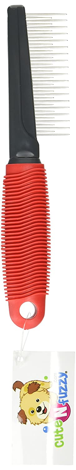 (Red) CuteNFuzzy Ultimate Pet Shedding Comb