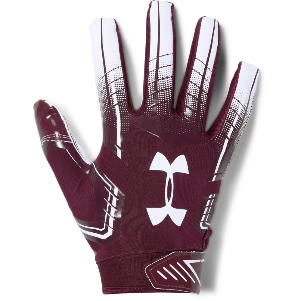 Under Armour Men's F6 Football Gloves, Maroon (609)/White, Large