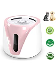 MQFORU Pet Water Fountain Cat Water Dispenser, Healthy Hygienic Super Quiet Dry Burning-Resistant Protection 2L Automatic Drinking Bowl for Dogs and Cats (Pink)