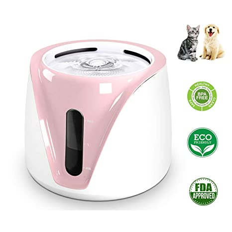 UniM Botellas de Agua Dispensador para Perros Gatos Mascotas, higiénico Saludable, súper silencioso,