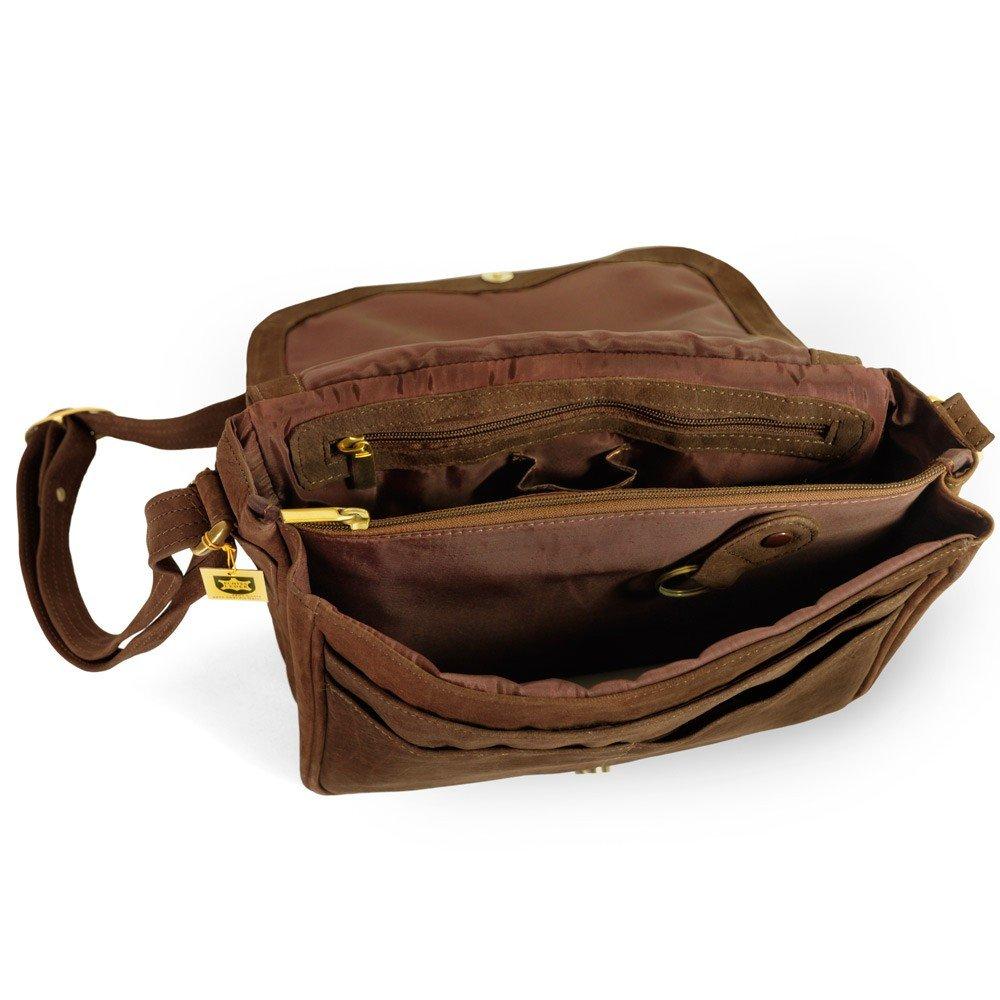 29d148fa66bf5 Damen Handtasche Größe M Umhängetasche im Retro-Look aus Büffel-Leder