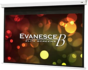 "Elite Screens Evanesce B, 92"" 16:9, Recessed in-Ceiling Electric Projector Screen with Installation Kit, 8k/4K Ultra HD Ready Matte White Fiberglass Reinforced Projection Surface, EB92HW2-E12"