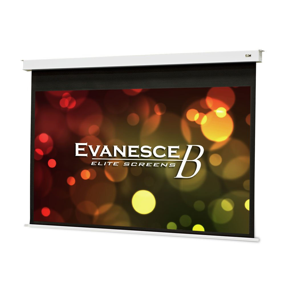 Elite Screens Evanesce B Series, 100-inch Diagonal 16:9, Recessed In-Ceiling Electric Projector Screen with Installation Kit, 8k/4K Ultra HD Ready MaxWhite FG a Matte White with Fiberglass Reinforcement Projection Screen Surface, EB100HW2-E12