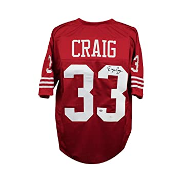 sale retailer b0ecf 90340 Roger Craig Autographed San Francisco 49ers Custom Red ...