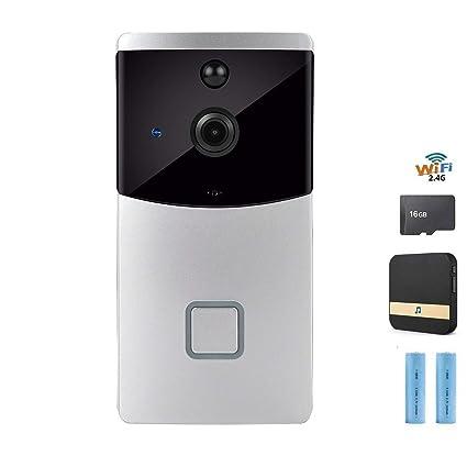 Amazon com : Video Doorbell, Wireless Doorbell Security Smart Camera