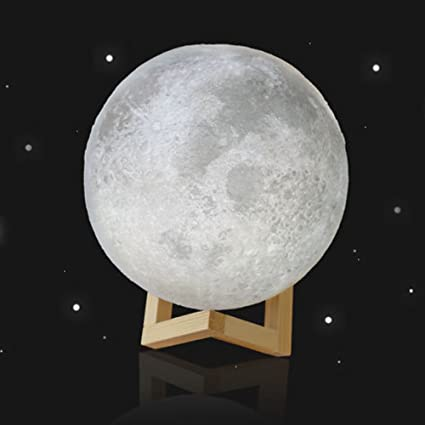 3D Light Moon Lamp Gift13CM Magical Desk Efaster Light Moonlight Moon Moon USB Night LED Creative Table 3D E9IWHYD2