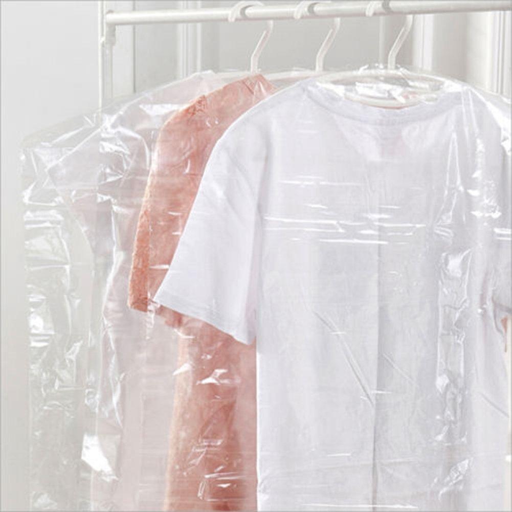 40pcs Dust Cover Garment Storage Organizer Bag Wardrobe Hanging Clothes (40pcs) by Risesun (Image #2)