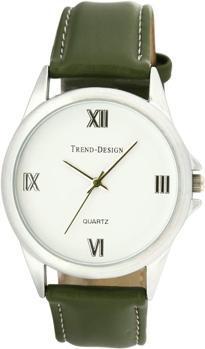 Trend Design Men S White Dial Leather Band Casual Watch 26512g 4 Price In Uae Amazon Uae Kanbkam