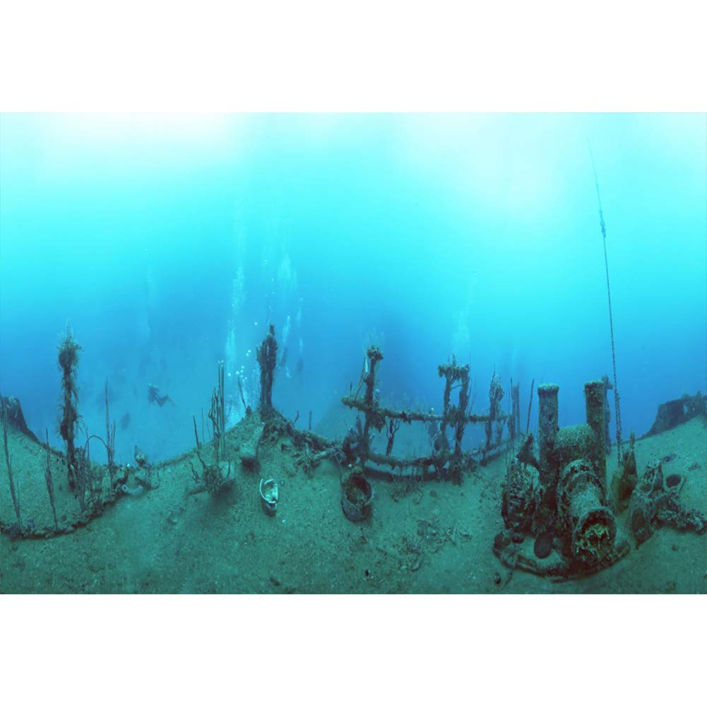 OERJU 1,5x1m Submarino Mundo Fondo Buried Submarino Restos ...
