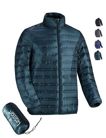 finest selection faca8 d0e8e Leichte Daunenjacke Herren Ultraleichte Winterjacke Steppjacke Packbar Puff