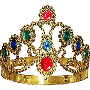 Amazon.com: Gold Adjustable King and Queen Crown: Toys & Games