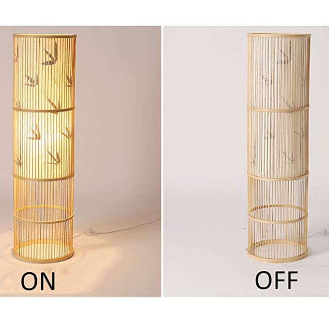 Amazon.com: Home Lamp Rattan Floor Lights,Living Room ...