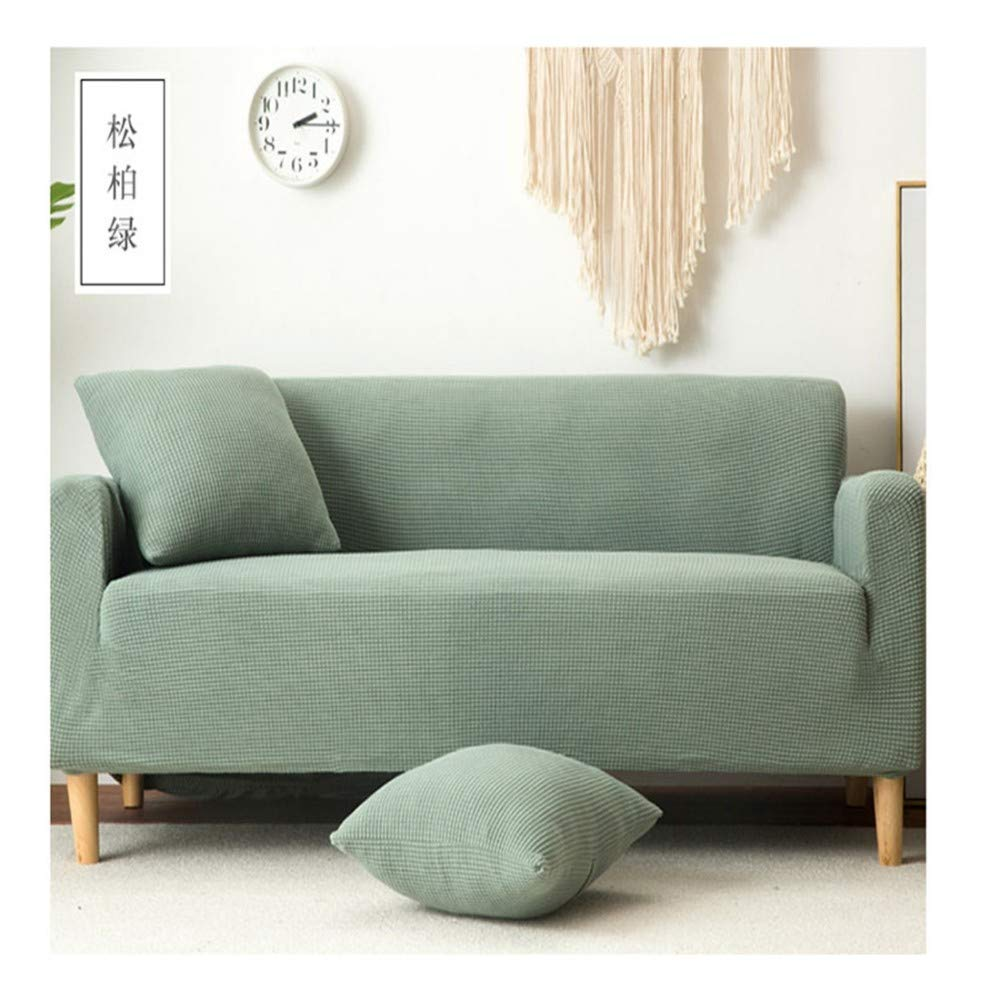 3seat VGUYFUYH Cypress Green Plush Thick Slip Sofa Cover Polyester All Inclusive Elastic Home Universal Sofa Cover Simple Fashion One Set Durable Dust Pet Dog Predective Cover,3Seat