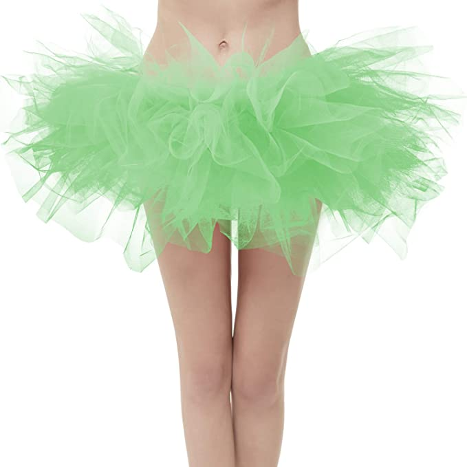 30269de17b205 Dresstore Women's Vintage 5 Layered Tulle Tutu Puffy Ballet Bubble Skirt