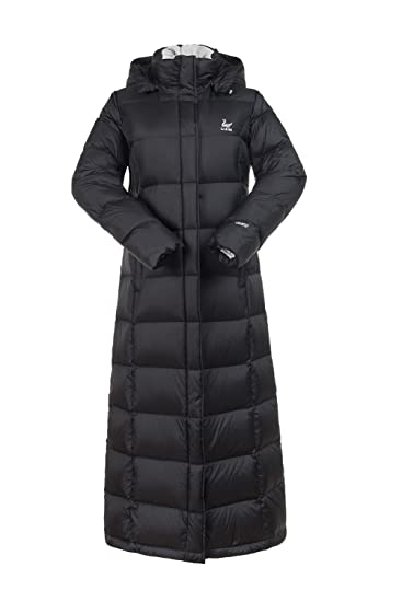 182fd818d UAISI Women Goose Down Jacket Slim Duck Down Hooded Long Thick ...