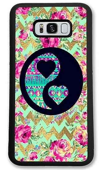 Amazon Com Samsung Galaxy S8 Plus Case Custom Yin Yang Chevron
