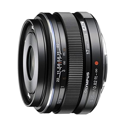 Olympus M Zuiko Digital 17mm F1 8 Lens, for Micro Four Thirds Cameras  (Black)