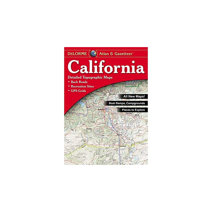 Garmin Delorme Atlas & Gazetteer Paper Maps California, AA 007983 000
