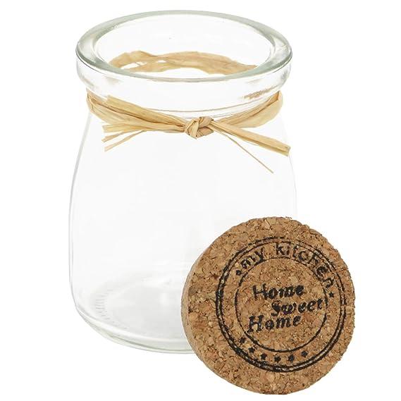 COM-FOUR® 12x Mini botella de vidrio con tapón de corcho para sal, pimienta, especias, hierbas, aceites y regalos, 100 ml (12 piezas - tarro de especias): ...