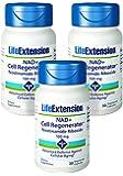 Life Extension NAD+ Cell Regenerator Nicotinamide Riboside, 30 100mg Vegetarian Capsules - 3-Pak