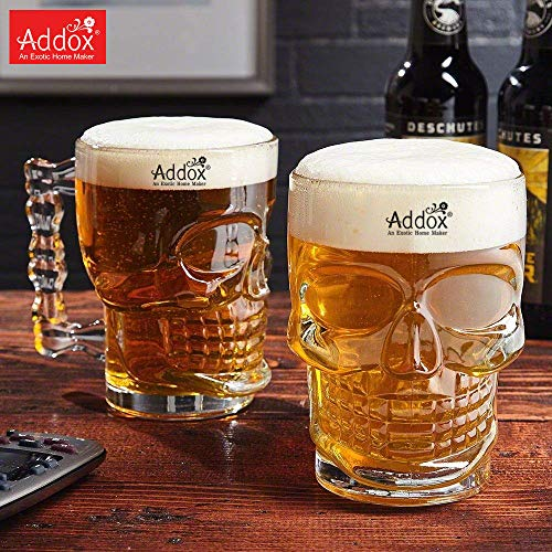 Addox® Skull Beer Mug 520ML for Your Home Bar(Set of 2) Price & Reviews