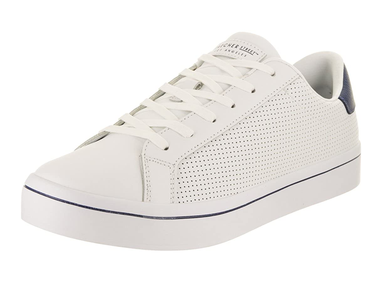 9a1c34f2 Skechers Men's Hi-Lite-Gnirps White/Navy Leather Sneakers-11 UK (12 US) (46  EU) (52434-WNV): Buy Online at Low Prices in India - Amazon.in