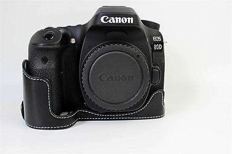 Zakao - Funda de piel auténtica para cámara Canon EOS 80D ...