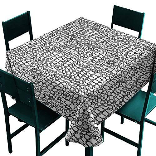 DONEECKL Waterproof Tablecloth Reptile Crocodile Skin Abstract Table