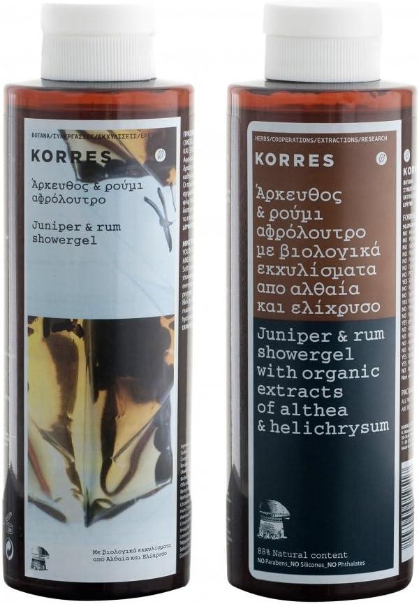 Korres – Juniper y Ron showergel 250 ml