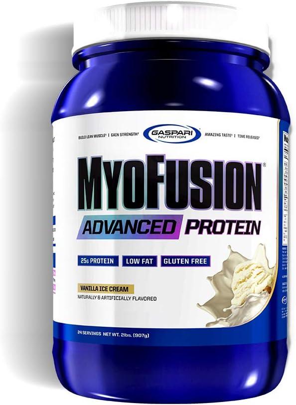 Gaspari Nutrition Myofusion Advanced Protein, Vanilla Ice Cream, 2 Pound